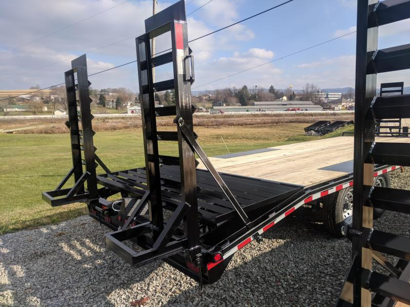 NEW 2018 Quality 19+4 PRO Deckover Tagalong Trailer w/Pop Up Dove Tail