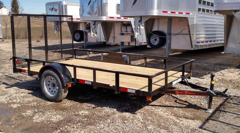 NEW 2019 Quality 6x14 General Duty Utility Trailer w/Spring Assist Gate