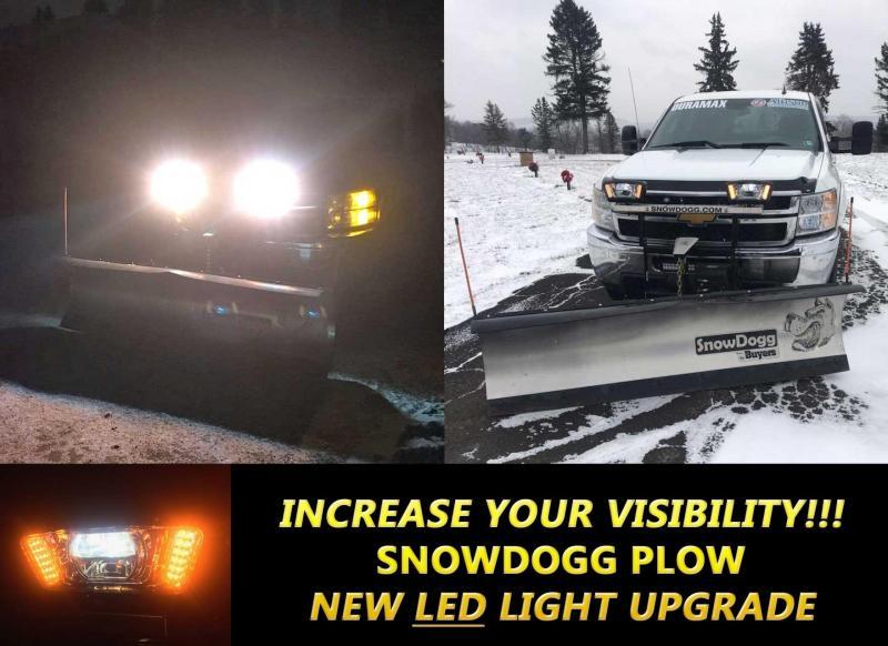 NEW SNOWDOGG 7.5' HD Gen 2 Stainless Steel Snow Plow w/ LED Lights