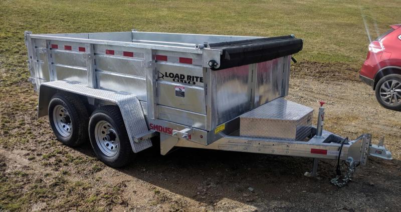 """NEW 2019 Load Rite 6'10"""" x 12' Lo Pro Equipment Dump Trailer - GALVANIZED"""