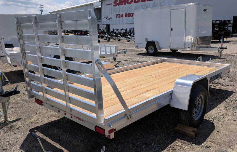 NEW 2019 Aluma 5'8 x 12' ES Utility Trailer w/Wood Deck