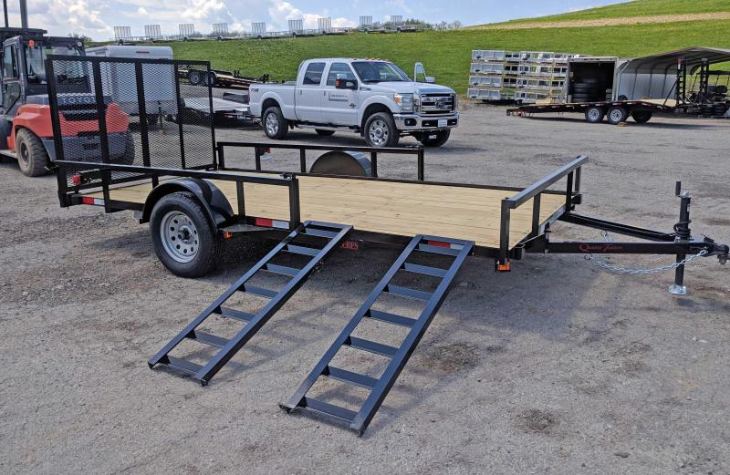 NEW 2019 Quality 6X14 PRO Utility Trailer w/ Spring Assist Gate & ATV Side Ramps