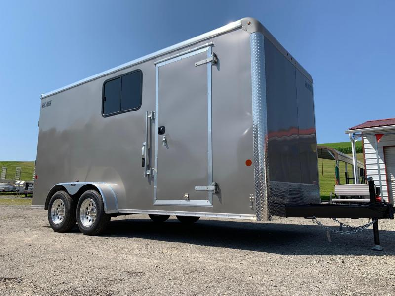 "NEW 2020 Car Mate 7x16 HD Custom Cargo Trailer w/ Ramp Door w/ Windows (12"" Add'l Height)"