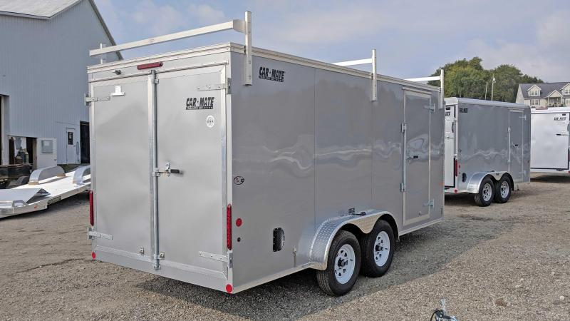 "NEW 2019 Car Mate 7X16 HD ""CONTRACTOR"" Cargo w/ Barn Doors"