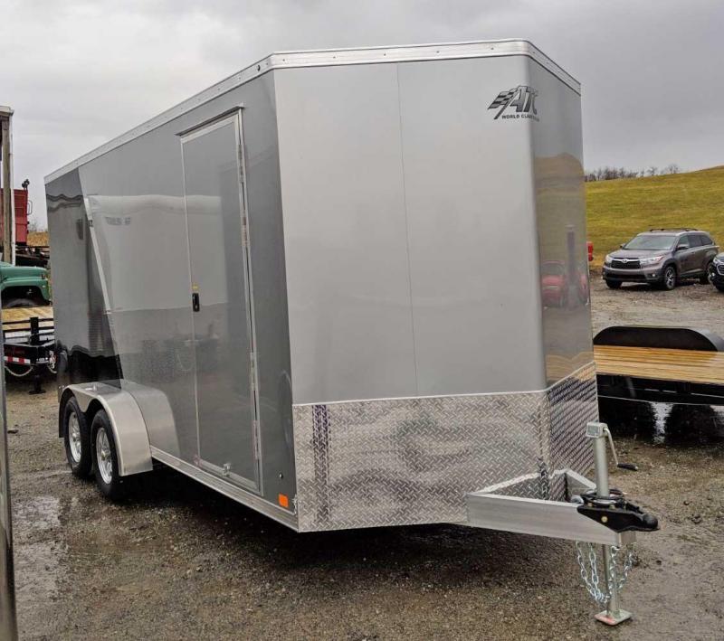 "NEW 2019 ATC 7x16 V-Nose Raven Cargo Trailer w/ Ramp Door (12"" Add'l Height)"