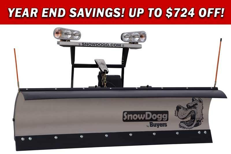 (1 Left!) CALL FOR SPECIAL PRICING!! NEW SNOWDOGG  8' Medium Duty Stainless Steel Snow Plow