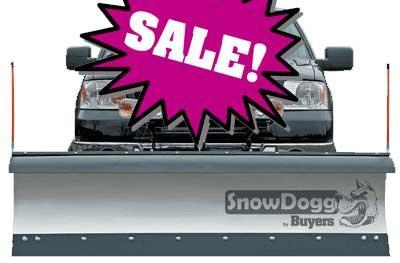 CALL FOR SALE PRICE!! NEW SNOWDOGG  8' Medium Duty Stainless Steel Snow Plow- 1 LEFT IN STOCK