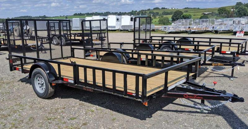 NEW 2020 Quality 7x14 PRO Utility w/ Side Ramps & Spring Assist / Lay Flat Rear Gate