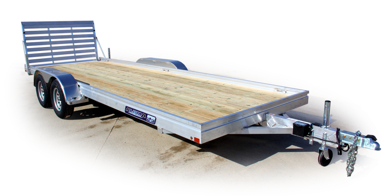 "NEW 2019 Aluma 6'6"" X 20 EDGE  Series Tandem Utility Trailer w/ Wood Deck"