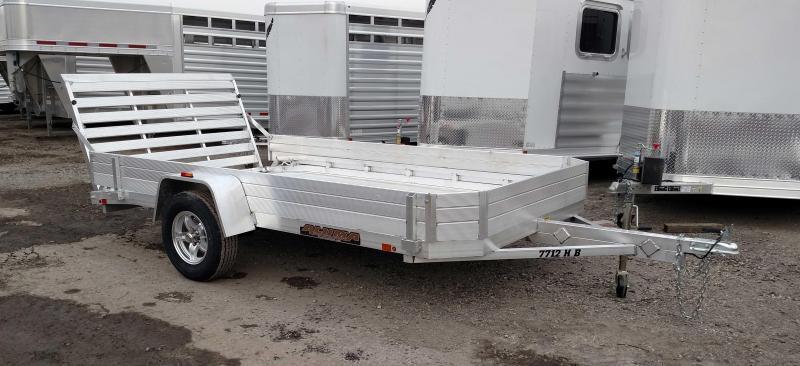 "NEW 2018 Aluma 6'5"" X 12' HD Aluminum Utility Trailer w/12"" Solid Sides"
