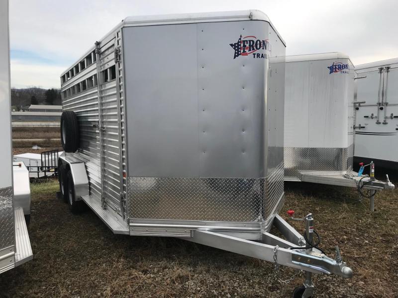 NEW 2019 Frontier 7x16 ALUMINUM Stock Trailer Horse Trailer