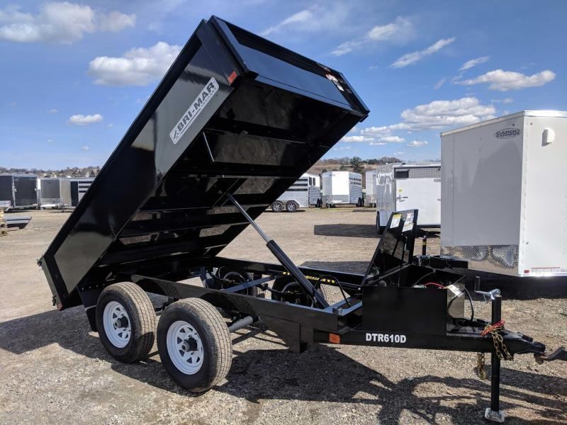 NEW 2019 Bri-Mar 6x10 Deckover Dump Trailer (10K)