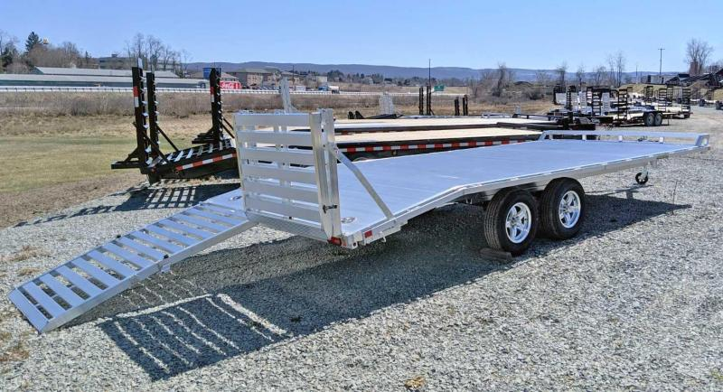 NEW 2020 Aluma 16+4 Deckover Trailer w/ Twin Bi-Fold Gates