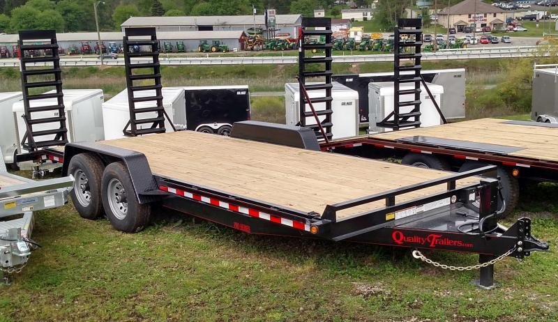 NEW 2019 Quality 18' HD PRO Equipment Hauler w/ 2' Dove Tail & Spring Assist Ramps