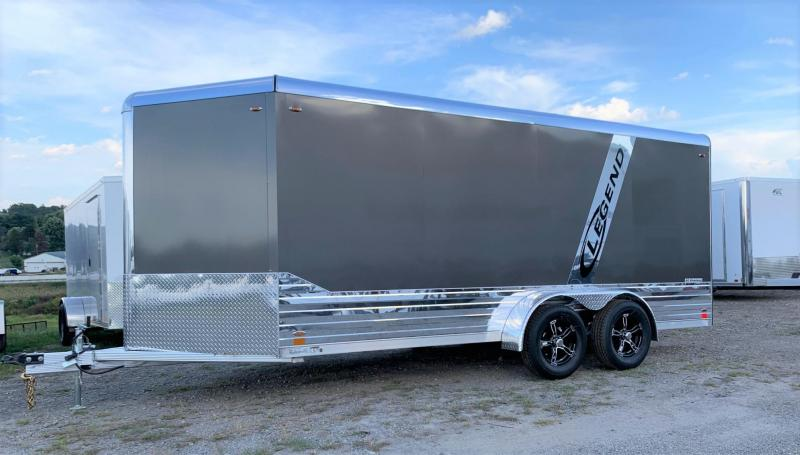 NEW 2020 7x19 Legend Deluxe V-Nose Cargo Trailer