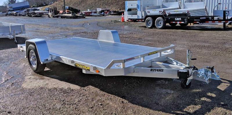 """NEW 2020 Aluma 6'10"""" X 14 HEAVY Single Utility Trailer w/ Underbody Ramps"""