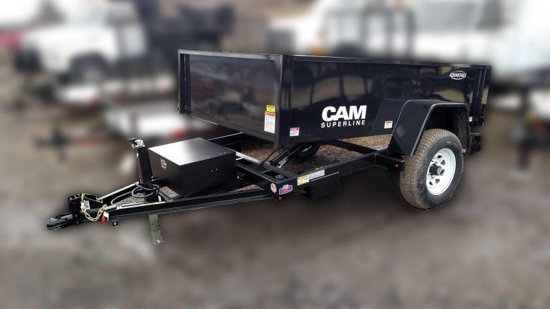 """NEW 2019 Cam 5X8 """" Advantage"""" Lo Pro Dump Trailer"""