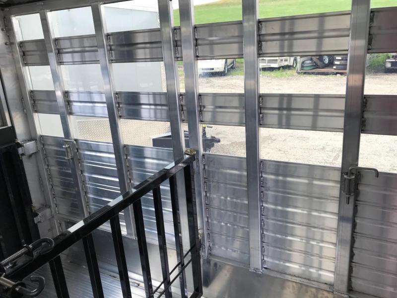 NEW 2018 Frontier 7x12 (4 Pen) Aluminum Lo Pro Livestock Trailer