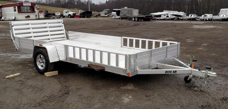 "NEW 2019 Aluma 6'9"" x 14' SR Utility Trailer w/ Side Ramps & Bi-Fold Gate"