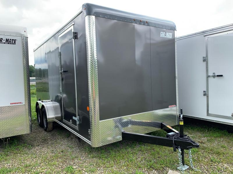 "NEW 2019 Car Mate 7x16 HD Custom 12"" UP Cargo Trailer w/ Ramp Door"