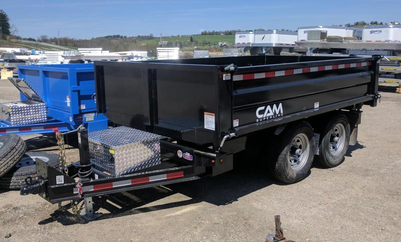 "NEW 2019 CAM 6 x10 ""3 Way"" Deckover Dump Trailer (10K)"