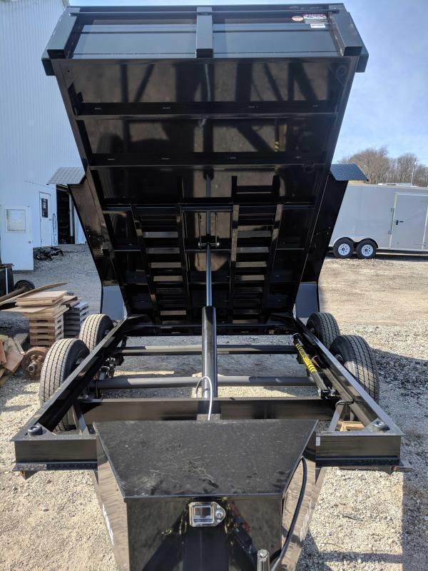 NEW 2019 Bri-Mar 6x10 LE Lo Pro Equipment Dump Trailer