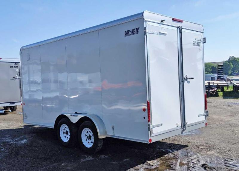 "NEW 2019 Car Mate 7x16 HD Custom Cargo w/ Rear Barn Doors (12"" Add'l Height)"
