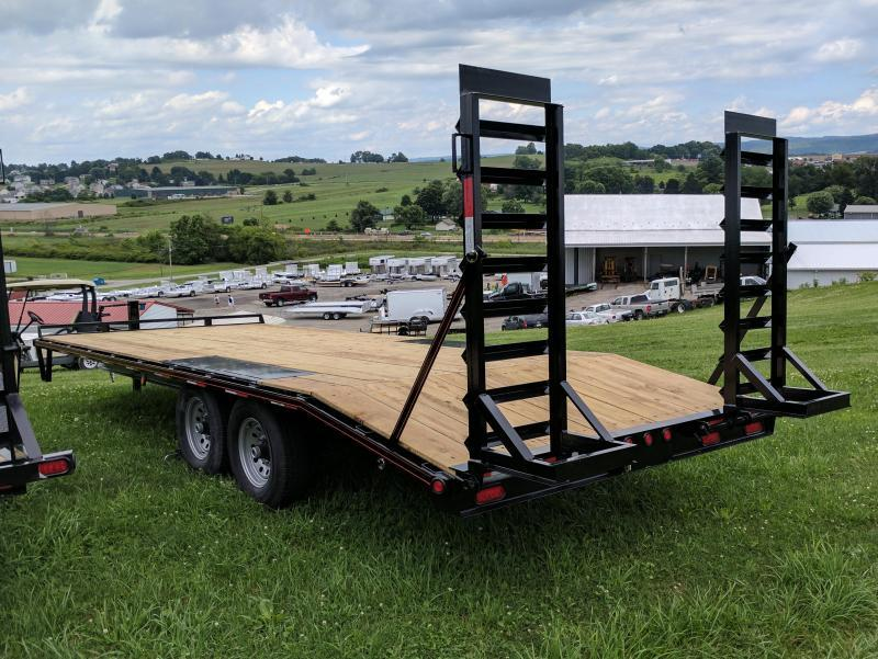 NEW 2019 Quality 18+4 HD General Duty Deckover Tagalong Trailer w/Stand Up Ramps