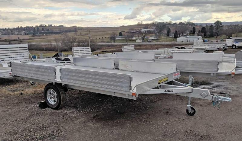 "NEW 2019 Aluma 88"" X 12' Aluminum (3 Place) ATV Trailer"