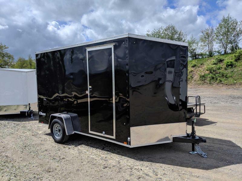 NEW 2020 Cargo Express 7x12 EX DLX Sloped V-Nose Cargo Trailer w/ Ramp Door