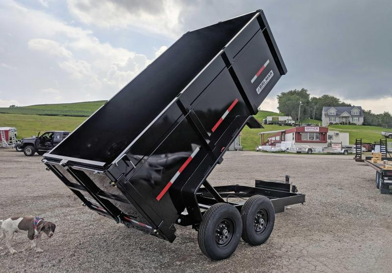 "NEW 2019 Bri-Mar 6x12 Lo Pro Dump Trailer w/ 44"" Fixed Sides (10K)"