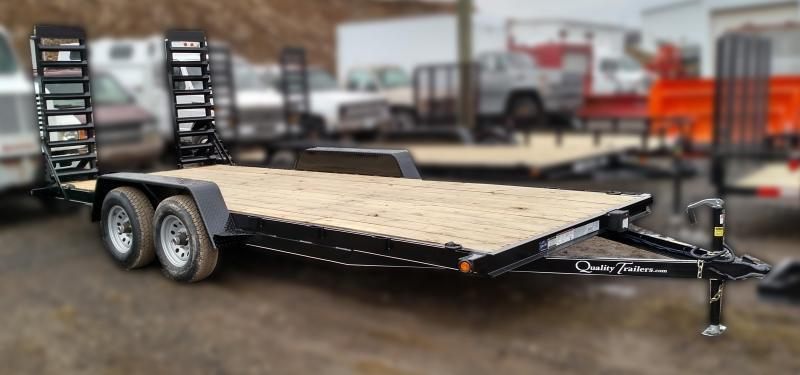 NEW 2019 Quality 18' Econo Equipment Hauler w/Stand-Up Ramps (NO DOVE)