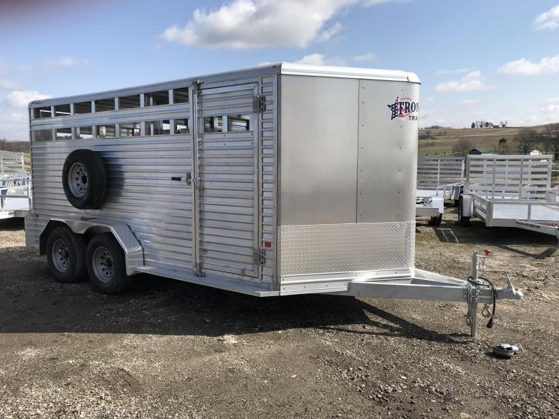 NEW 2018 Frontier 16' Aluminum Livestock Trailer