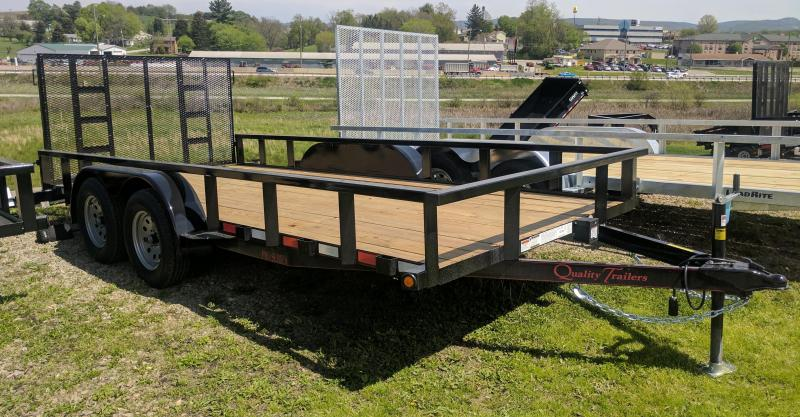 New 2020 Quality 7x16 Pro Utility Trailer w/ Spring Assist (No Dove)