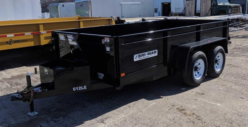 NEW 2018 Bri-Mar 6X12 Lo Pro Equipment Dump Trailer