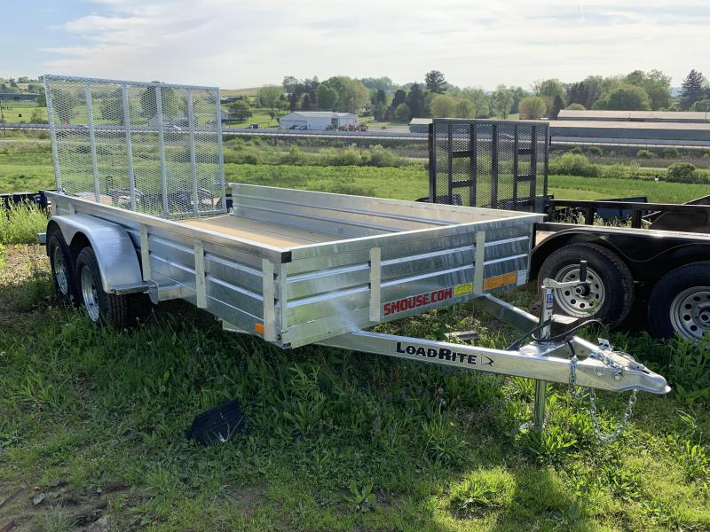 EW 2019 Load Rite 6x14 Tandem Utility Trailer w/ Solid SideS/ Spring Assist Gate