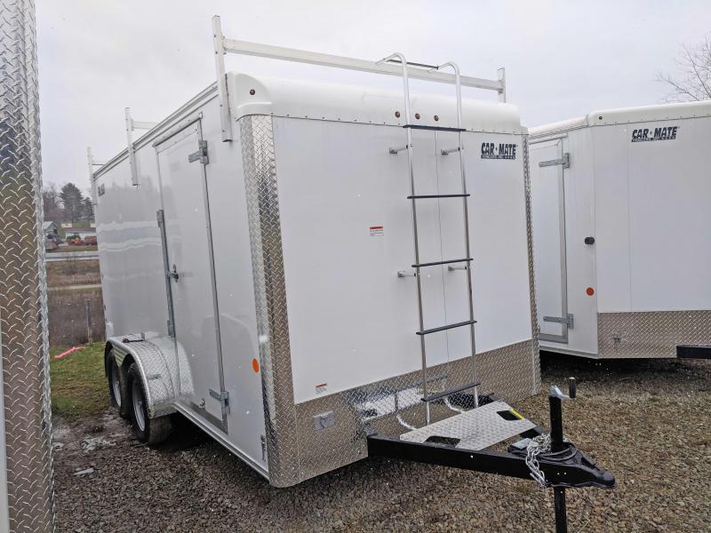 NEW 2018 Car Mate 7X14 HD Contractor Cargo w/ Barn Doors