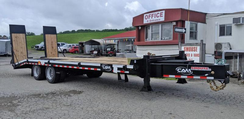 NEW 2019 CAM 22+5 HD Deckover Tagalong Equipment Trailer  w/ Air Power Ramps
