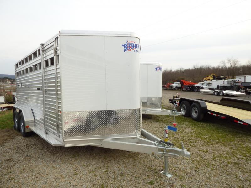 NEW 2017 Frontier 7'W X 7' H x 16'L ALUMINUM  Stock Trailer