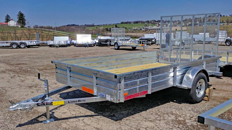 "NEW 2019 Load Rite 6X12 Utility Trailer w/ Spring Assist Gate & 14"" Solid Sides"