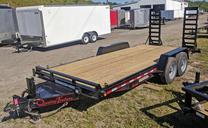 NEW 2019 Quality 18' HD PRO Equipment Hauler w/ 2' Dove & Spring Assist Ramps