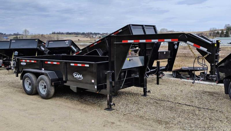 "NEW 2019 CAM 6'8"" x 14' HD Gooseneck Equiptment Dump Trailer"