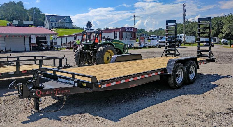 NEW 2020 Quality 18' HD PRO Equipment Hauler w/ Spring Assist Ramps - No Dove