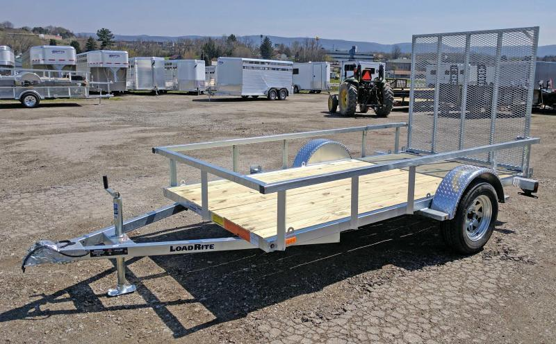 NEW 2019 Load Rite 5.5X11 Galvanized Utility Trailer w/Spring Assist Gate