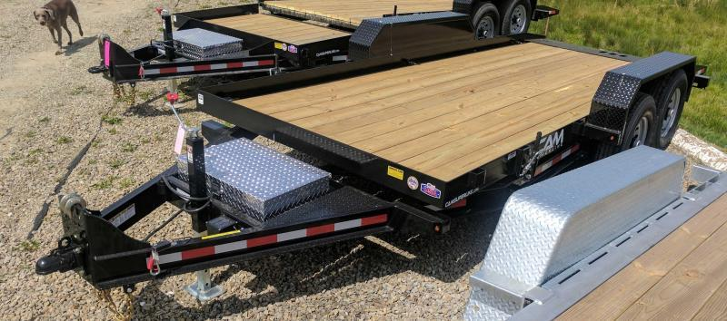 NEW 2019 CAM 18' Lo Pro Full Tilt Equipment Trailer (16100# GVW)
