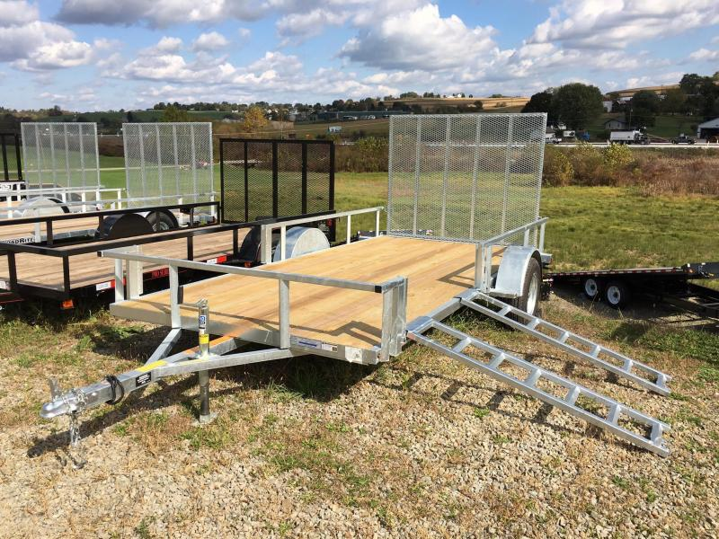 NEW 2018 Load Rite 6X14 Utility Trailer w/Spring Assist Gate & Side Load Ramps