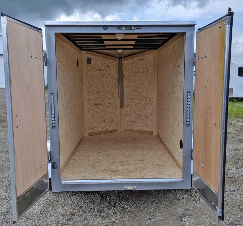 NEW 2019 Steadfast 5x8 JST Sloped V-Nose Cargo Trailer w/ Double Barn Doors