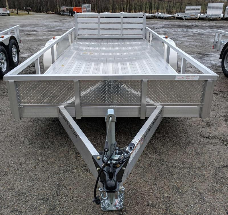 NEW 2018 ATC 7x16 Aluminum Utility Trailer w/ Bi-Fold Gate