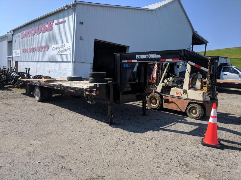 USED 2014 Maxum 20+5 Deckover Gooseneck Trailer w/ Pop Up Beavertail