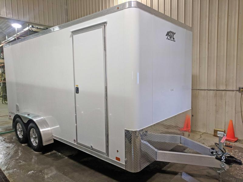 "NEW 2019 ATC 7x16 Raven Cargo Trailer w/ Barn Doors & 6"" Additional Height"